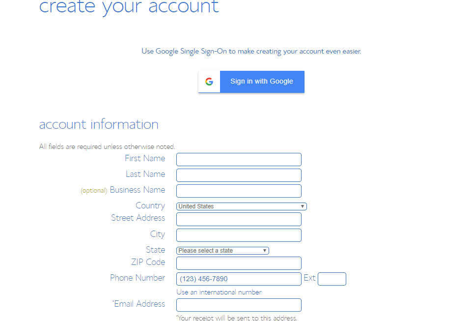 Create Your account to get best Bluehost deals