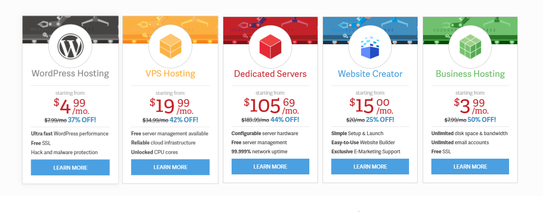 InMotion Web Hosting Plans